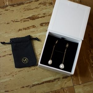 Mejuri Organic Pearl Earrings - Drop Earrings